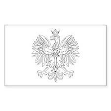 Polish Eagle (Polski Orzel) Rectangle Stickers