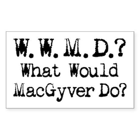 Vintage 90s MacGyver T.V. Series Sticker (Rectangu