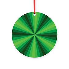 Green Illusion Ornament (Round)