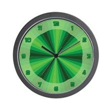 Green Illusion Wall Clock
