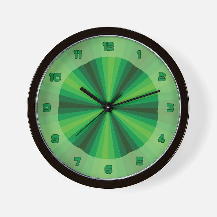 Green Illusion Wall Clock