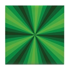 Green Illusion Tile Coaster
