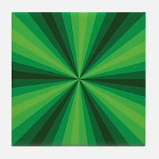 Green Illusion Tile Coaster