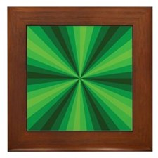 Green Illusion Framed Tile