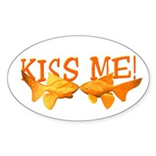 Goldfish Kiss Me Oval Decal