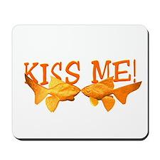 Goldfish Kiss Me Mousepad