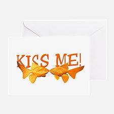 Goldfish Kiss Me Greeting Card