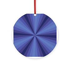 Blue Illusion Ornament (Round)