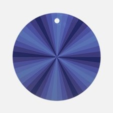 Blue Illusion Ornament (Round)