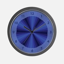 Blue Illusion Wall Clock