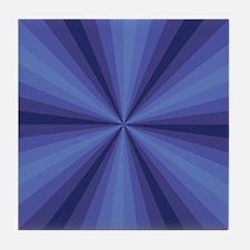 Blue Illusion Tile Coaster