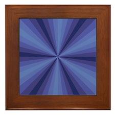 Blue Illusion Framed Tile