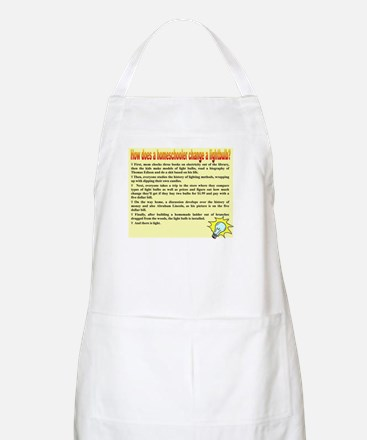 Homeschool Lightbulb BBQ Apron