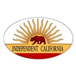 Independent California Oval Sticker