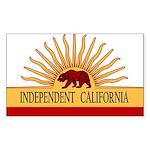 Independent California Rectangle Sticker
