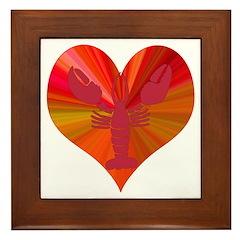 Lobster Love Framed Tile