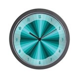 Blue turquoise Basic Clocks