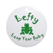 Left Handed Leap Year Ornament (Round)