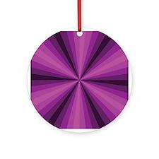 Purple Illusion Ornament (Round)