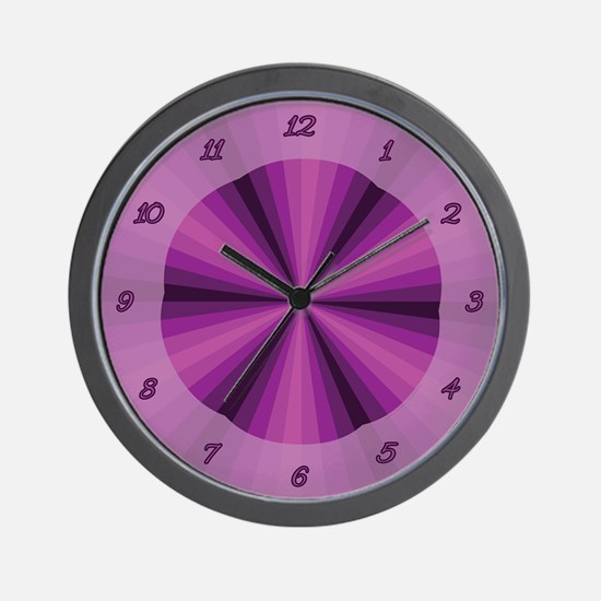 Purple Illusion Wall Clock
