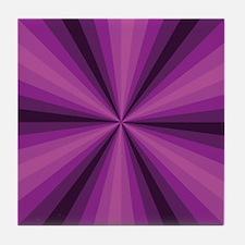 Purple Illusion Tile Coaster
