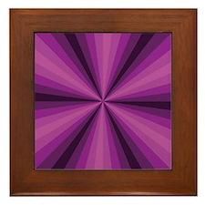 Purple Illusion Framed Tile