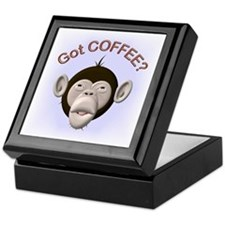 Got Coffee? Monkey Keepsake Box