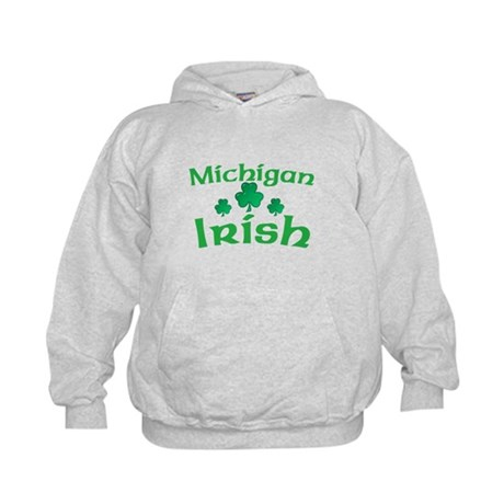 Michigan Irish Shamrocks Kids Hoodie