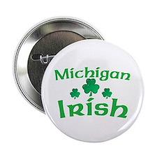 """Michigan Irish Shamrocks 2.25"""" Button"""