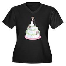 Wedding Cake Women's Plus Size V-Neck Dark T-Shir