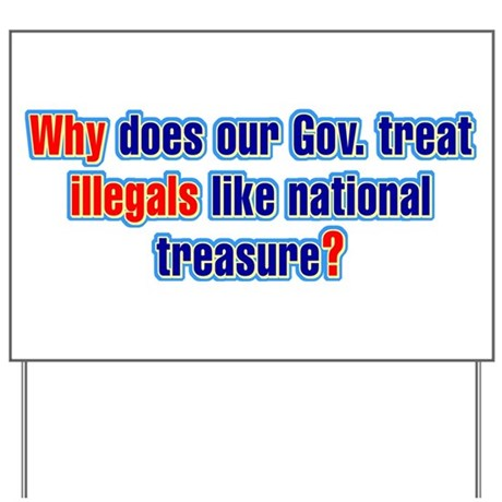 National Treasure Yard Sign