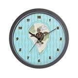 Callie sea turtle Wall Clocks