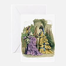 PARIS FASHION 1866 Greeting Card
