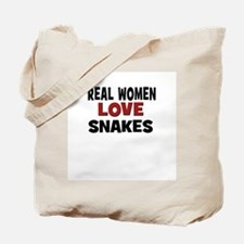 Real Women Love Snakes Tote Bag