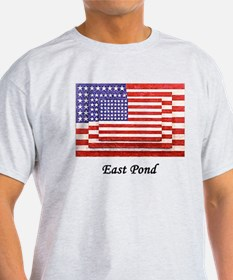 3 Flags Superimposed T-Shirt