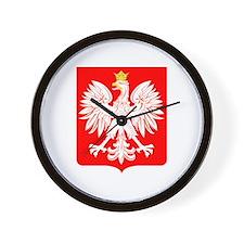 Polish Eagle Shield Wall Clock
