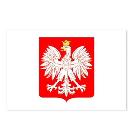 Polish Eagle Shield Postcards (Package of 8)
