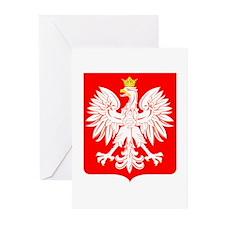 Polish Eagle Shield Greeting Cards (Pk of 10)