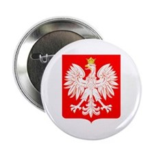 Polish Eagle Shield Button