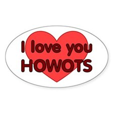 Love You Howots Oval Decal