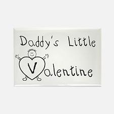 Daddy's Valentine (Boy) Rectangle Magnet