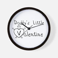 Daddy's Valentine (Boy) Wall Clock