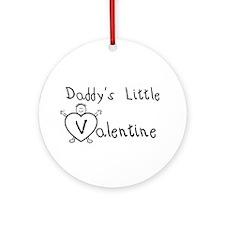 Daddy's Valentine (Boy) Ornament (Round)