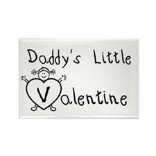 Daddy's Valentine (girl) Rectangle Magnet