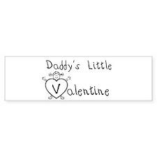 Daddy's Valentine (girl) Bumper Bumper Sticker