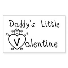 Daddy's Valentine (girl) Rectangle Decal