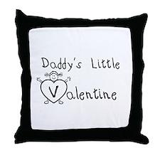 Daddy's Valentine (girl) Throw Pillow
