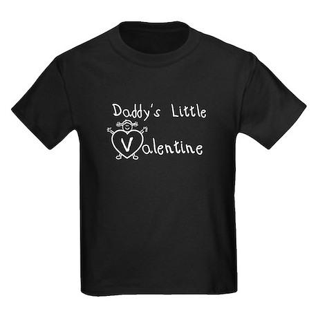 Daddy's Valentine (girl) Kids Dark T-Shirt