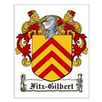 Fitz-Gilbert Family Crest Small Poster
