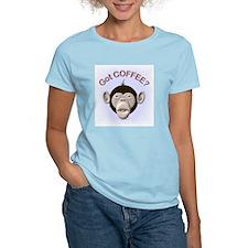 Got Coffee? Monkey Women's Pink T-Shirt